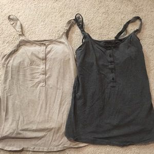 Set of two size S nursing tanks- perfect condition
